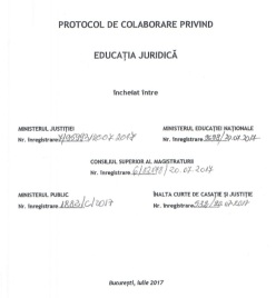 Coperta Protocol educatie juridica